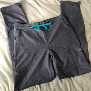 Figs Yola skinny Scrub Pants in Graphite
